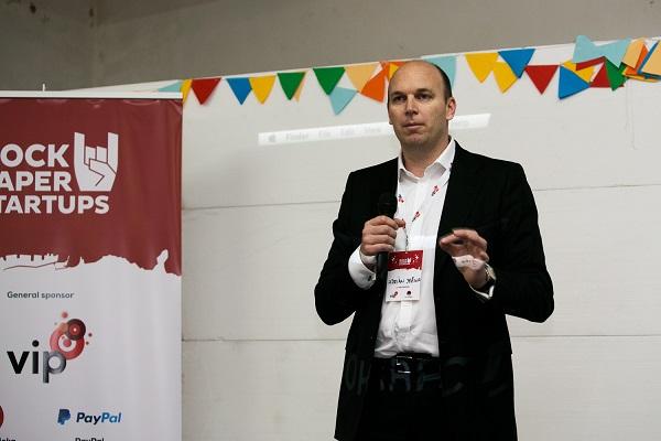 Adrian Ježina, član Uprave Vipneta, na otvorenju konferencije RockPaperStartups (slike: Luka Travaš)