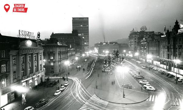 Trg Republike (današnji Trg bana Jelačića) 1958. godine (Hrvatski povijesni muzej)
