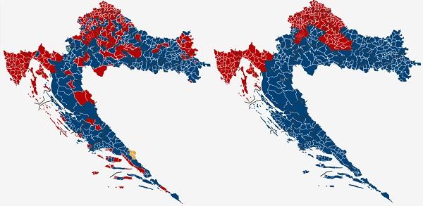 Rezultati izbora po općinama i po županijama.