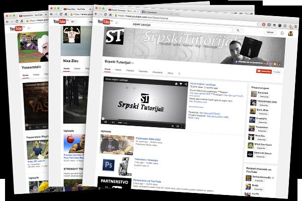 Yasserstain, Nixa Zizu i Srpski Tutorijali nalaze se među najpopularnijim YouTube kanalima u Srbiji