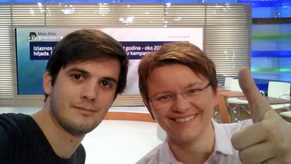 Bartol i Ana i, naravno, izborni selfie. :)