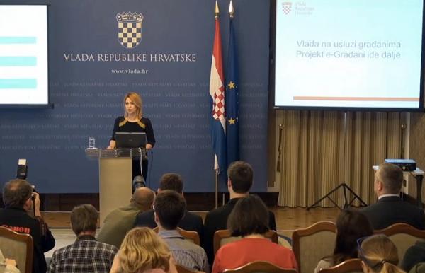 Potpredsjednica Vlade Milanka Opačić prvo je govorila o napretku usluge e-Građani.