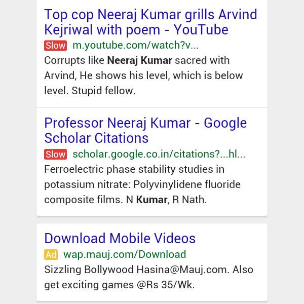 Google testira novi način prikaza rezultata pretrage - s upozorenjem na spore stranice.