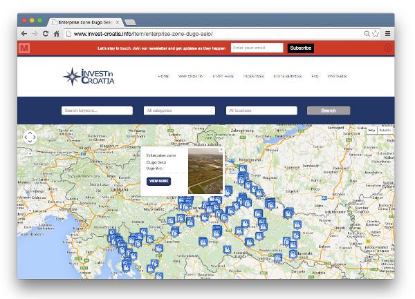 Invest in Croatia odličan je primjer komercijalne primjene otvorenih podataka.