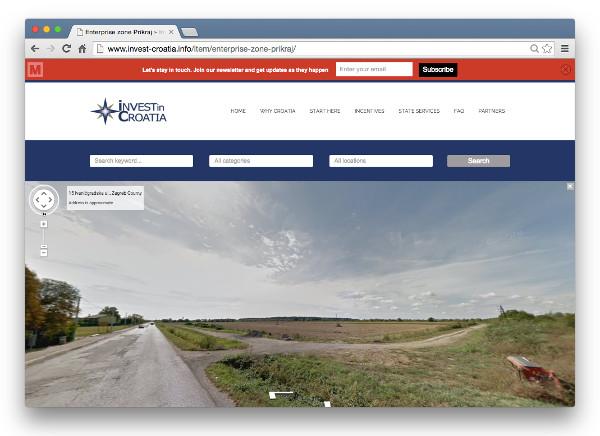 Za dobar dio investicija postoji i prikaz putem Google Street Viewa.