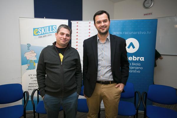 Na predstavljanju rezultata istraživanja bili su i osnivači startupa koji su prošle godine dobili investicije - Marko Linke i Matija Žulj.