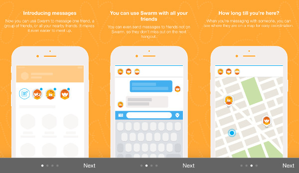 Foursquareov Swarm uvodi privatno dopisivanje