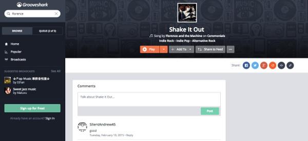 GrooveShark ima sve funkcionalnosti koje tražite kod streaming servisa.