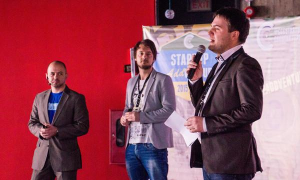 Vitaly M. Golomb, Mike Reiner i Max Gurvits na (Izvor: CCC Startups)