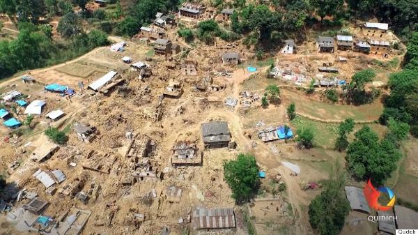 Snimka drona s nepristupačnih terena u Nepalu. Izvor: Quidich