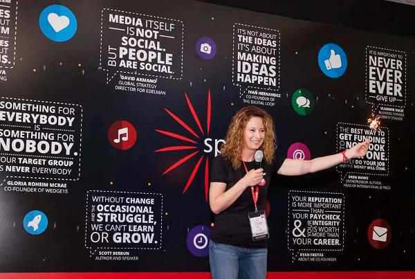 Nataša Đukanović otvara konferenciju Spark.me