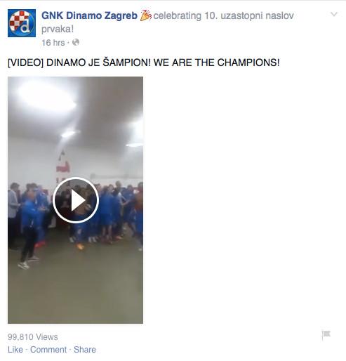 Dinamo - loše korištenje videa