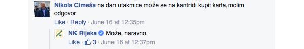 Rijeka komunikacija na Facebooku 2