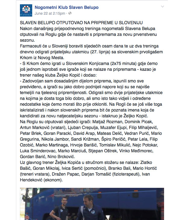 Slaven Belupo - loša komunikacija na Facebooku
