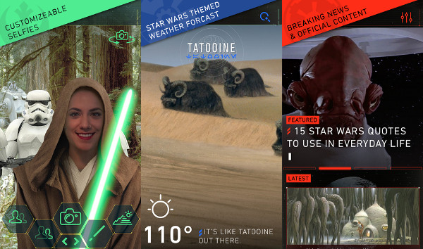 Star Wars aplikacija