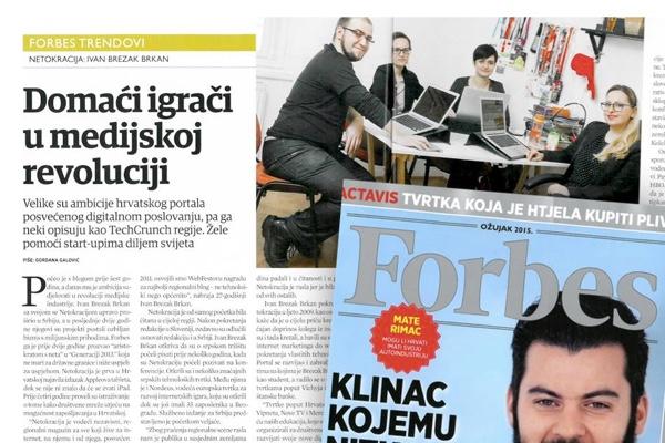 Što Forbes kaže o Netokraciji u istom broju gdje su pisali o Mati Rimcu, o kojem mi pišemo :)
