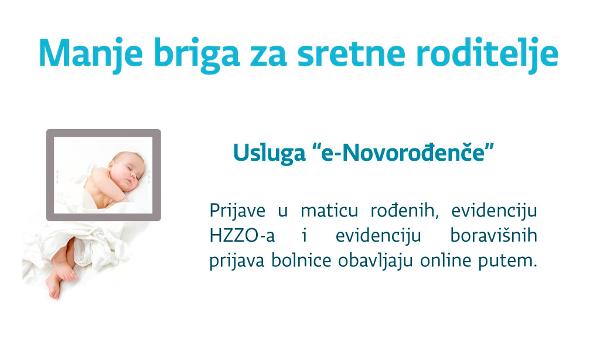 Započeo pilot-projekt e-Novorođenče, e-Građani od jeseni s novim uslugama