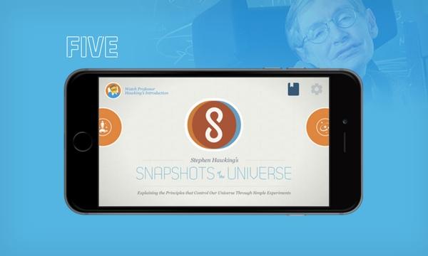 Fiveova aplikacija posvećena Stephenu Hawkingu - za iPhone