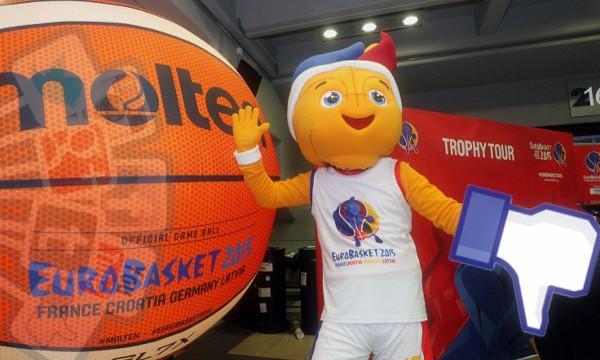Maskota Frankie (originalna slika: Eurobasket, Robertas Dackus)