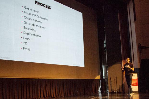 Marko Banušić je pričao o iskustvima prebacivanja Net.hr na WordPress VIP platformu. Autor fotografije: Neuralab