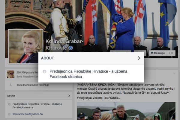 Sluzbena stranica predsjednica