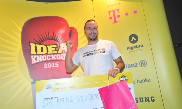 Vedran Vukman na proglašenju pobjednika natjecanja Idea Knockout - dio nagrade je put na sajam CES u Las Vegasu.