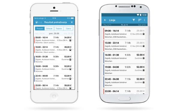 Pretraživati i uspoređivati autobusne linije moguće je i putem mobilnih aplikacija.