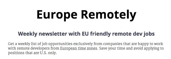 europe remotely
