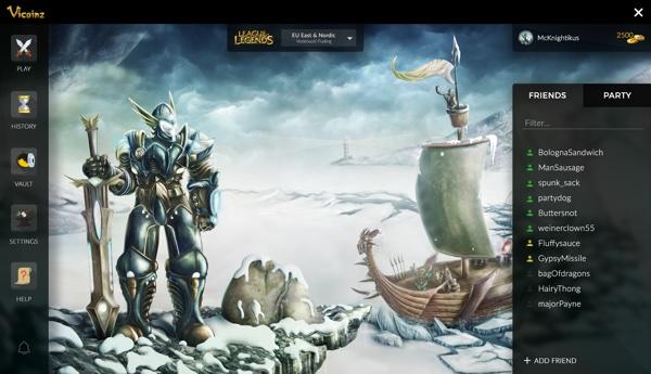 VIcoinz zasad podržava League of Legends