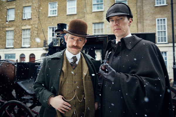 Sherlock i Watson, © Hartswood Films 2015. Sherlock is produced by Hartswood Films Ltd and distributed by BBC Worldwide Ltd.