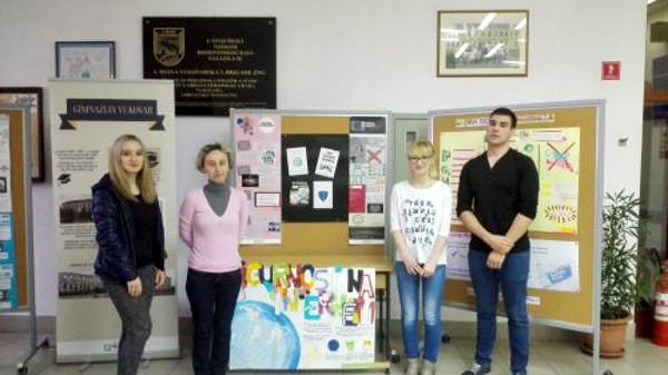 Jedna od škola koja je sudjelovala u Danu sigurnijeg interneta, Gimnazija Vukovar.