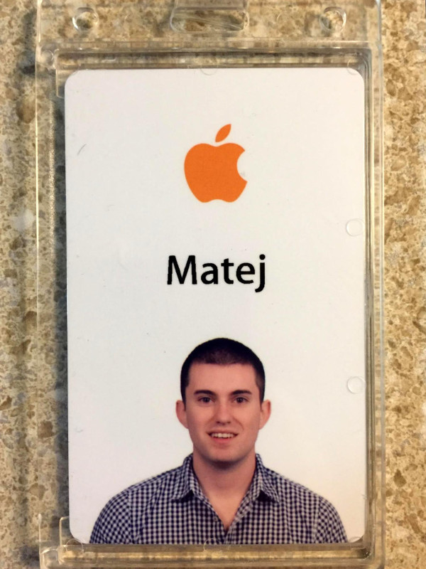 Na prvu prijavu za pripravništvo u Appleu Matej nije dobio ni odgovor. No, iduće se godine ugodno iznenadio.