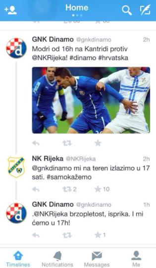 Rijeka Dinamo Twitter
