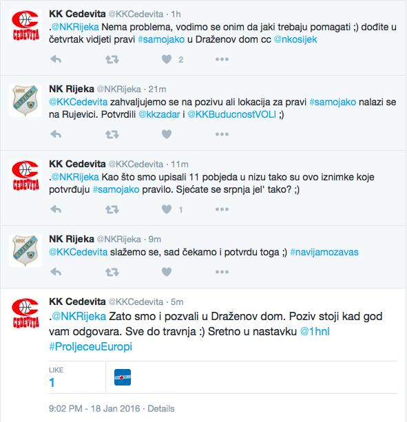 Rijeka Cedevita Twitter