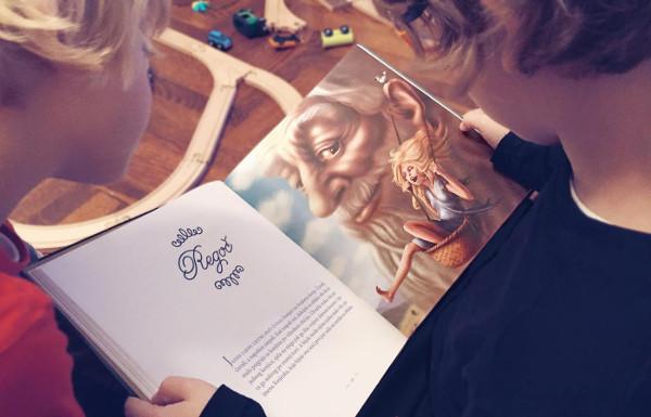 """Regoč – ilustracija iz jubilarnog izdanja knjige """"Priče iz davnine"""" povodom stogodišnjice prvog izdanja"""