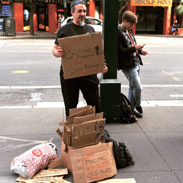 Coder protest as homeless
