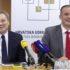 Direktor HUB-a Zdenko Adrović i predsjednik Odbora za sigurnost HUB-a Milan Parat na predstavljanju rezultata istraživanja.