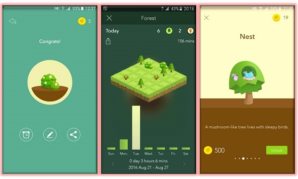 Forest stay focused aplikacija