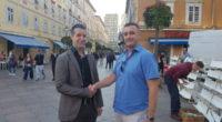 Matija Jekovec, COO Dominon Hosting Grupe, i Damir Maračić, CEO Infoneta, nakon potpisivanja ugovora o prodaji.
