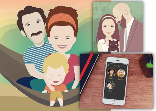 Maja radi kao dizajnerica, a uz logotipe, web i mobilne aplikacije, dizajnira i simpatične portrete.