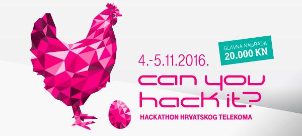 Vedran je jedan od mentora na hackathonu Hack It! koji se održava 4. i 5. 11., a glavna nagrada je 20.000 kuna uz mogućnost realizacije osmišljenog projekta kroz telekomovu mrežu.