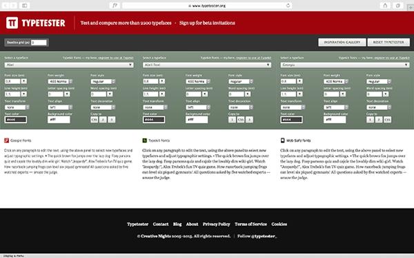 Stari Typetester i dalje je dostupan, samo na novoj adresi.