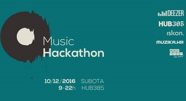 Music Hackathon će okupiti profesionalce iz glazbene industrije te startup zajednice.