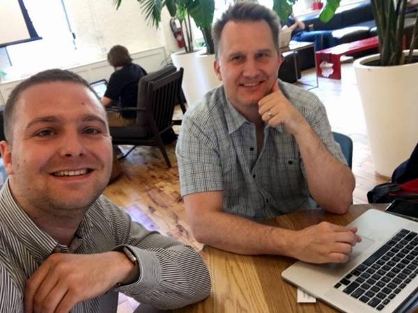 Prvi 'checkin' u Axilis NYC - Bruno Kovačić sa strateškim partnerom Jackom Templinom.