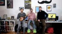 Luka Vucić (žabice na nogama) i njegov tim koji se okuplja oko Studija Vucić, Stjepan Tribuson i Ivan Hećimović (bez žabica).
