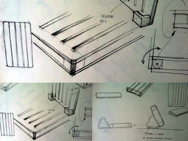 Skice iz faze prototipiranja.
