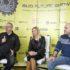 Glavni urednik Buga Miroslav Rosandić, direktorica Odjela za korporativne komunikacije HT-a Nina Išek Međugorac i Dragan Petric, izvršni urednik Buga, na predstavljanju programa Bug Future Showa.