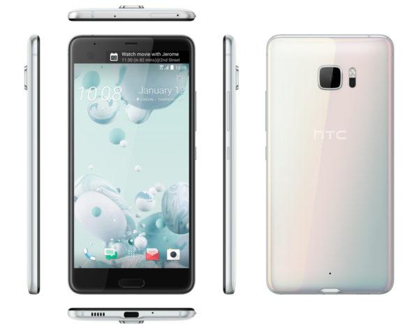 HTC U Ultra u bijelom - 'ice white' izdanju.