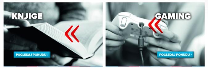 Na Mondu se direktno trenutno može kupiti Tiskov asortiman - knjige i video igre.