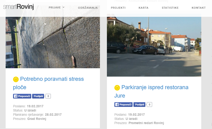 SmartRovinj, kao i druge slične aplikacije, omogućuje građanima jednostavnu prijavu problema lokalnim vlastima.